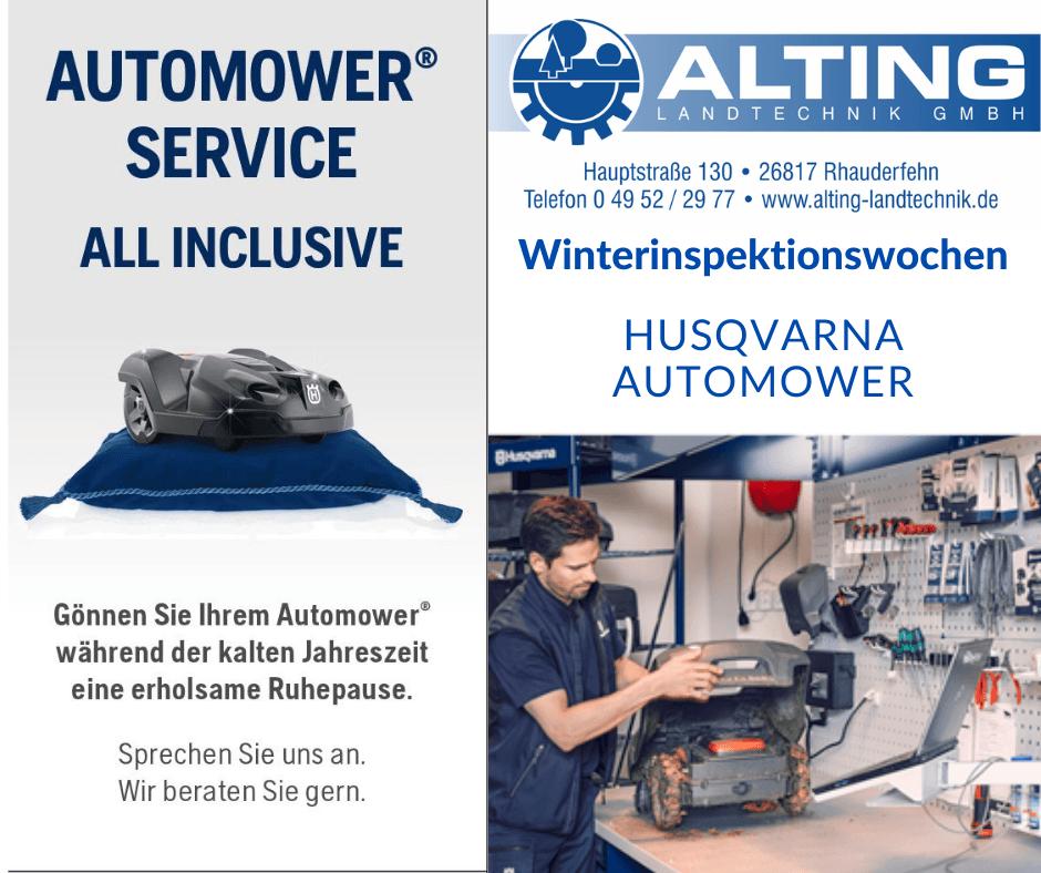 Automower Service - Alting Landtechnik